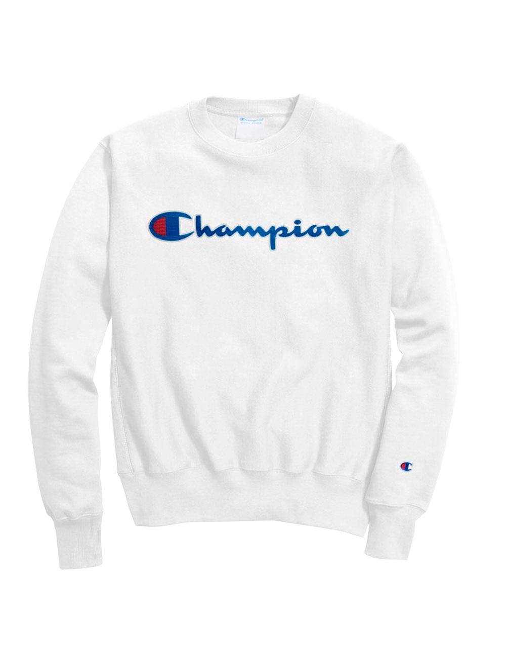 newest d4030 8100e Klassischer Herren-Pullover von Champion, weiss