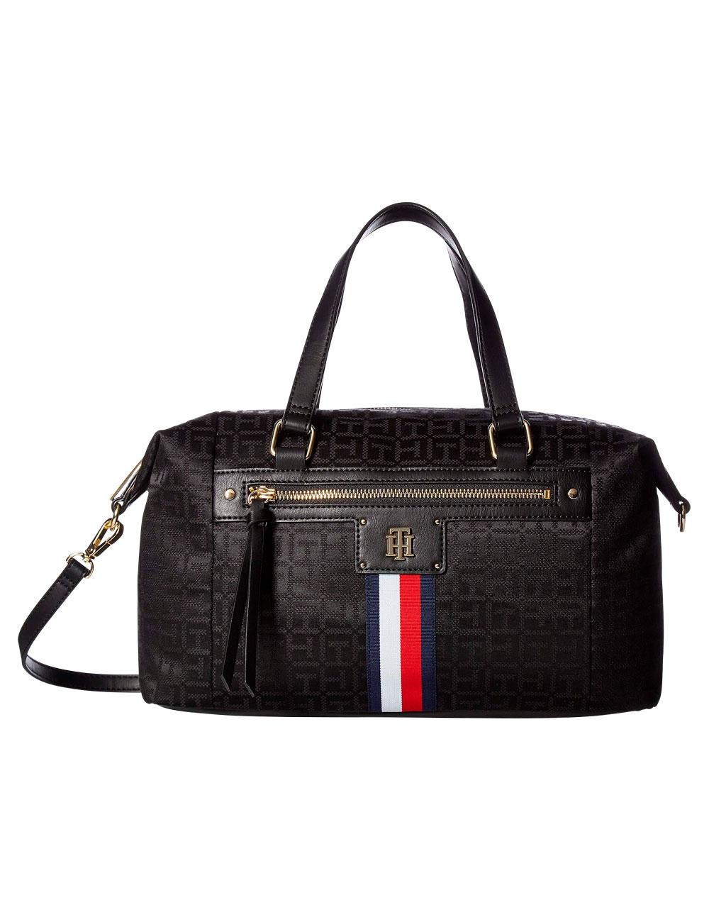 handtasche tommy hilfiger palmer satchel schwarz. Black Bedroom Furniture Sets. Home Design Ideas