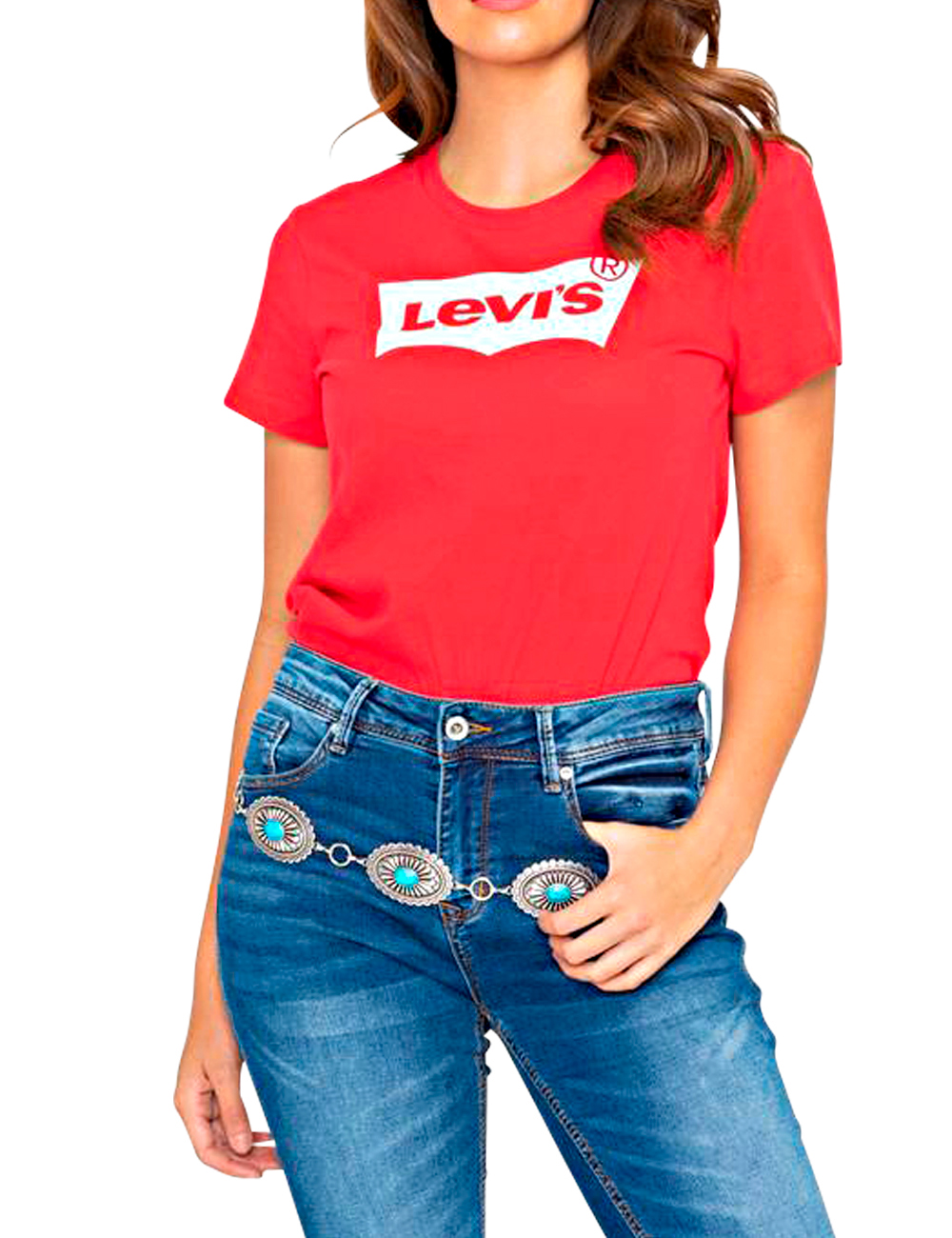 Pour T Et Blanc Femme Shirts Levi'sRouge PXZukOiT