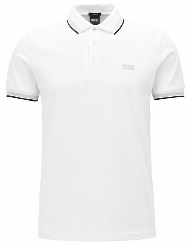 Herren-Polo-Shirt Hugo Boss «Paddy», weiss