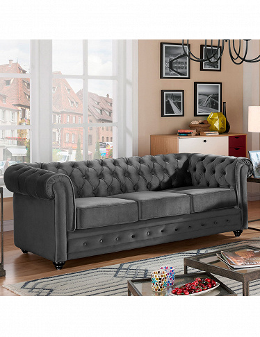 Sofa «Chesterfield», grau
