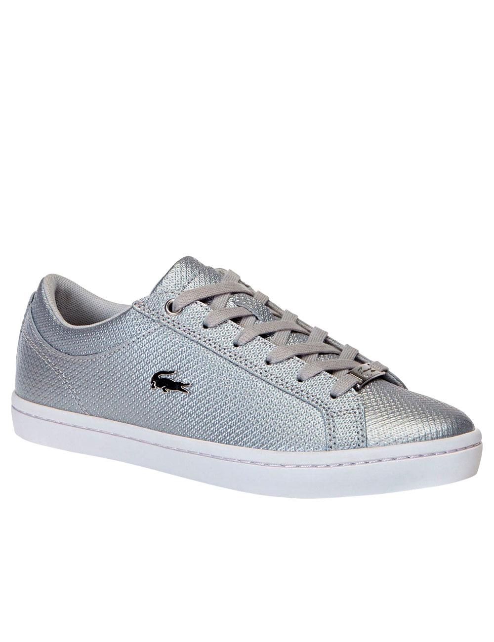 new style 3ea5c ff340 Damen Sneakers Lacoste, silber/weiss
