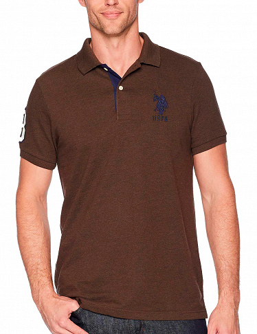 Herren T-Shirt, US Polo ASSN in Braun