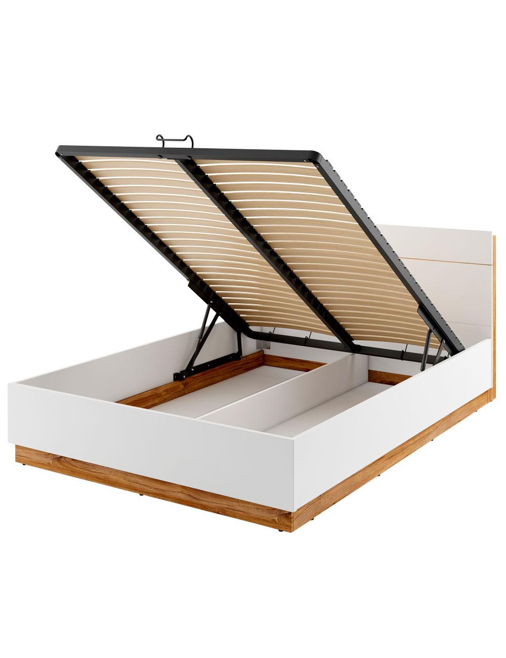 Bett «Dentro», Stauraum mit LED-Beleuchtung