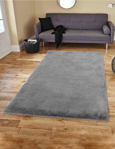teppich arctic grau 160 x 230 cm. Black Bedroom Furniture Sets. Home Design Ideas