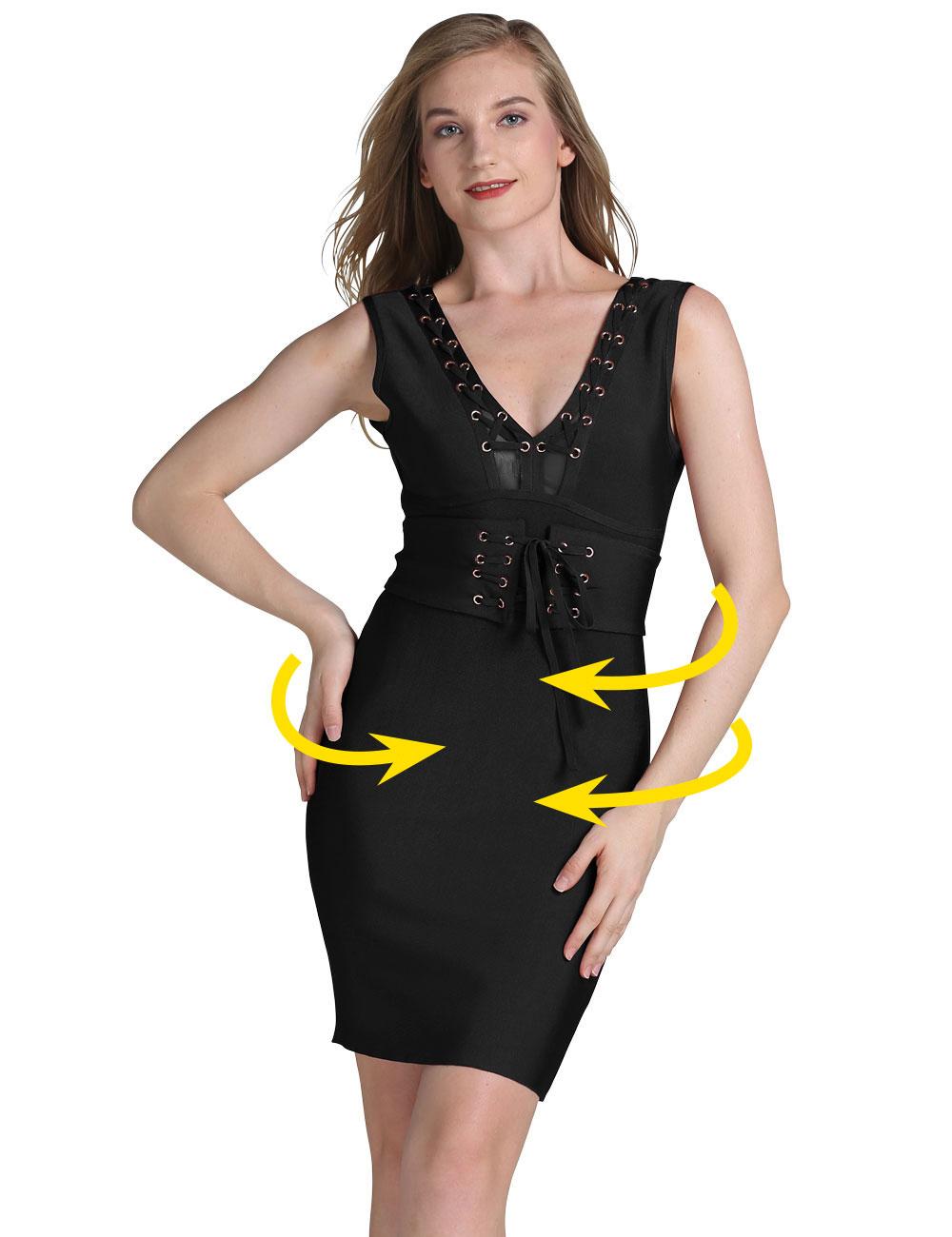 Kleid im elastischen Bandage Style mit Schnürung