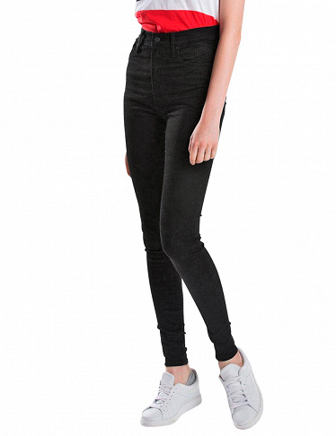 Levi's Damenjeans Mile High Super Skinny, schwarz