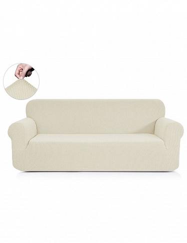 housse pour canap 3 places soft cr me. Black Bedroom Furniture Sets. Home Design Ideas