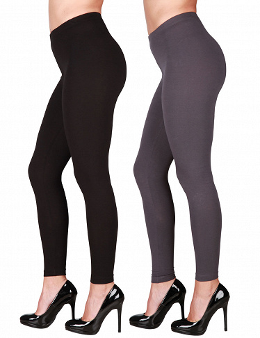 Leggings im 2er-Pack, schwarz + anthrazit