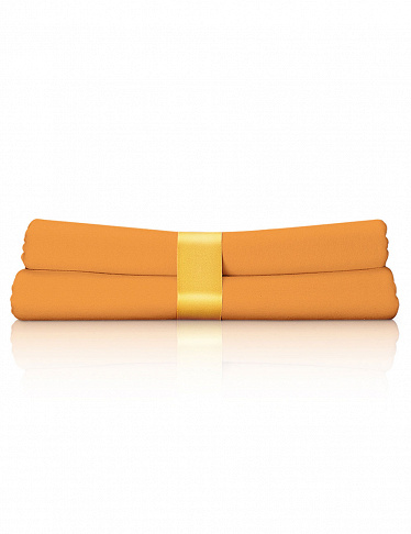 Jersey-Fixleintücher im 2er-Pack, 180-190x200 cm, orange