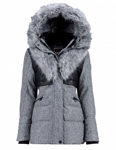 Geographical Norway Damenparka Bunky Lady, anthrazit