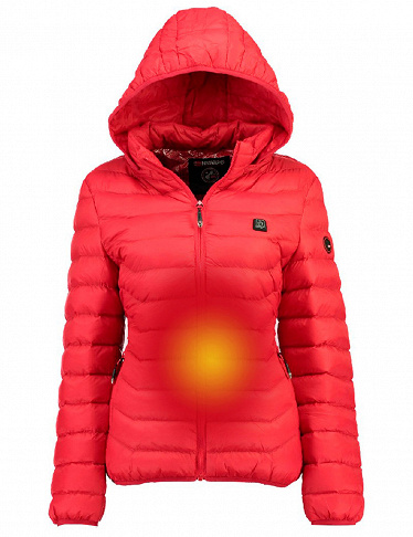 Damen-Parka «Warm up» von Geographical Norway, rot