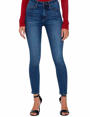 Guess High Rise Skinny-Jeans, denimblau