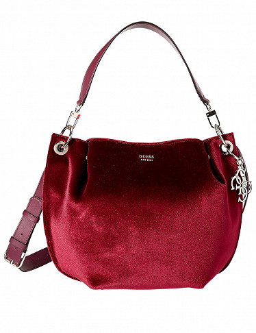 Guess Handtasche «Digital Hobo Handbag», bordeaux