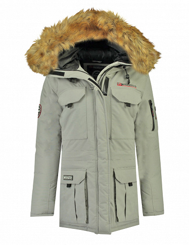Geographical Norway Herrenparka «Bottle», grau meliert
