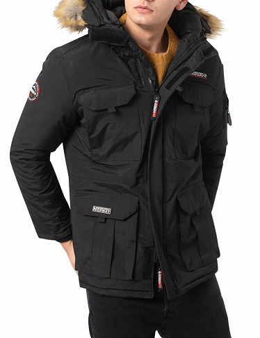 Geographical Norway Herrenparka «Bottle», schwarz