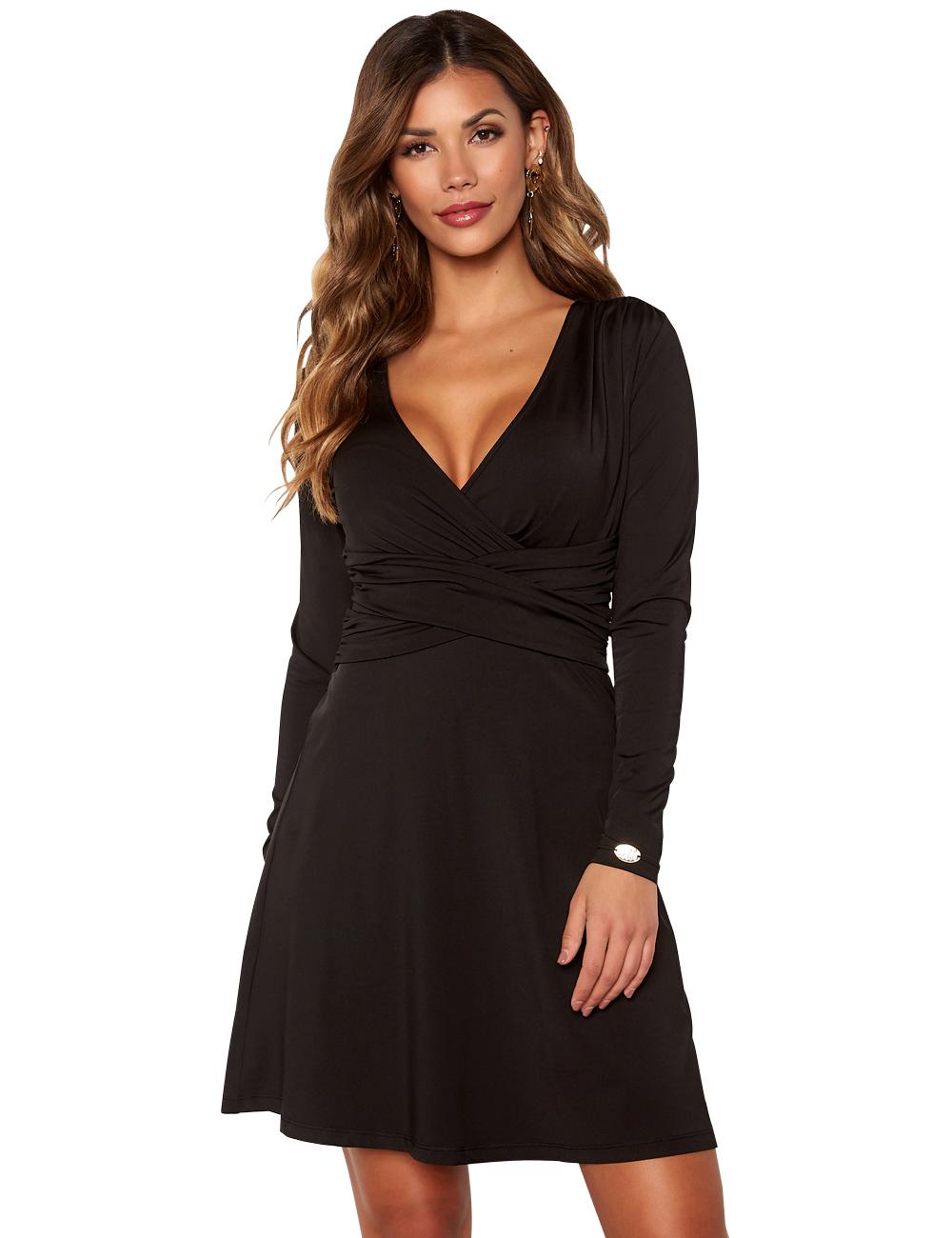 Kleid VAusschnitt Chiara Forthi, schwarz