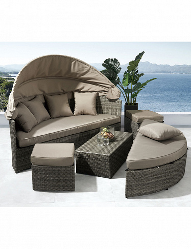 Lounge Set 2-in-1, braungrau/ taupe