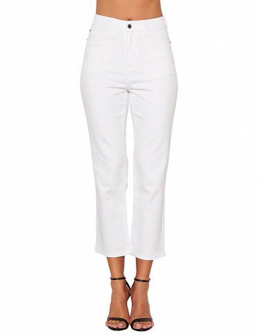 Stretchige Jeans von Happy Holly, weiss