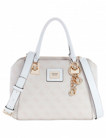 GUESS Handtasche «CANDACE SOCIETY», steinfarben