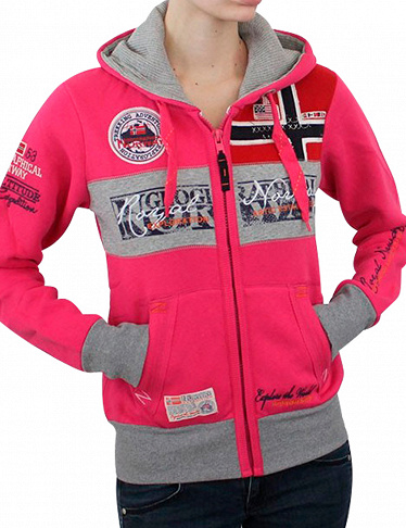 Geographical Norway Expedition Sweat für SIE «Flyer Lady», fuchsia