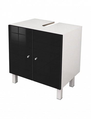 Lavabo-Unterschrank mit High-Gloss-Finish «Blacky»