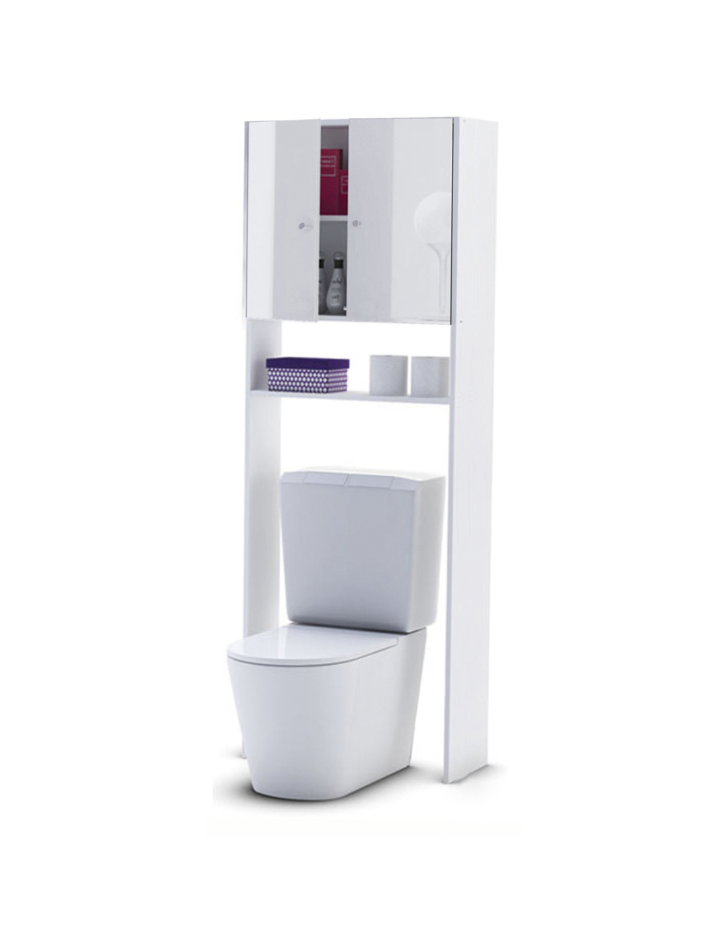Meuble Wc Avec Finition High Gloss