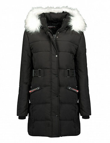 Geographical Norway Expedition Damenparka «Berte Lady», schwarz