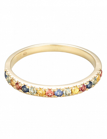 Artisan Joaillier Ring «Multicolor», Gelbgold/Saphire