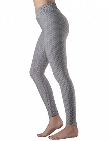 Leggings Anti-Cellulite, Push-up, Shaping, grau
