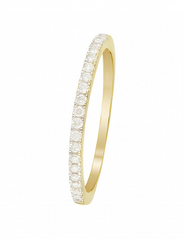 Artisan Joaillier Ring «Alliance Délice», Gelbgold/Diamanten