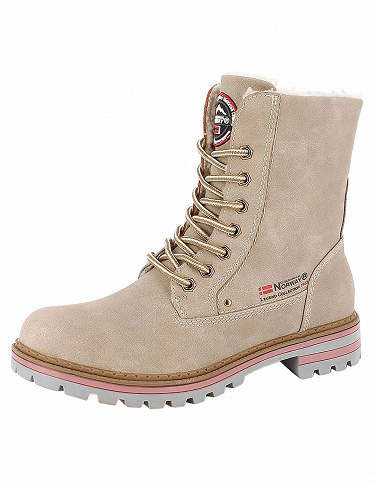 Geographical Norway, Damen-Stiefeletten, beige