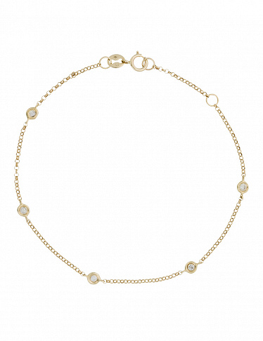 Paris Vendôme Armband «Sunshine», Gelbgold/Diamant
