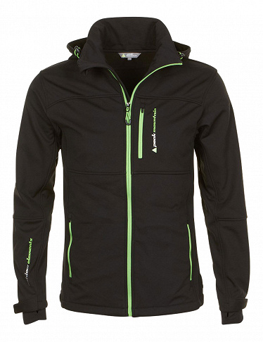 Peak Mountain Herrenjacke softshell, schwarz/anis