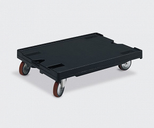 Dolly with 2 swivel and 2 fixed castors, 800x600x200 mm