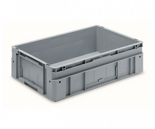 Automation container with solid sidewalls, 600x400x170mm