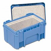 Stackable dispatch container 298x198x170 with lid and insulated insert