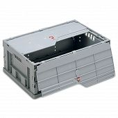 Foldable box-solid sidewalls & base, 2 part lid and with locking