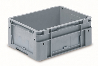 Automation container with solid sidewalls, 400x300x220mm