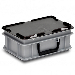 Plastic case 300x200x135mm carry handle on one long side