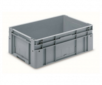 Automation container with solid sidewalls, 600x400x220mm