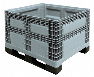Pallet box 1200x1000x780 mm with 2 runners & solid sidewalls
