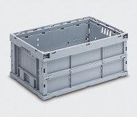 Space saving container. Folded dimensions 600x400x72 mm.