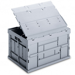 Foldable box - solid sidewalls & base with lid and locking