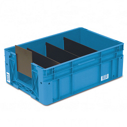 Automation container - solid sidewalls, guide grooves, heavy duty base