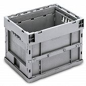 Foldable box - solid sidewalls & base, with locking and no lid