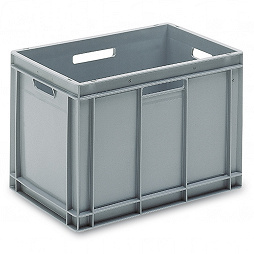 Stackable container - solid sidewalls, SGL solid base and 4 handles