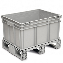 Stackable container RAKO welded to pallet base 800x600x575