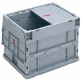 Foldable box - solid sidewalls & base, 2 part lid and with locking