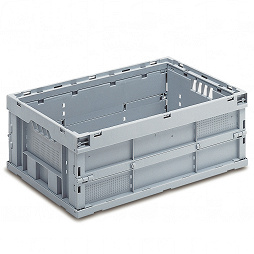 Foldable box - solid sidewalls & base, without lid and with locking
